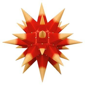 herrnhuter weihnachtsstern rot m gelben spitzen 40cm taff geschenkewelt ausgefallene. Black Bedroom Furniture Sets. Home Design Ideas